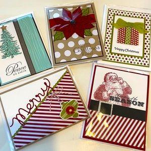 Set of 5 handmade Christmas cards 🎄